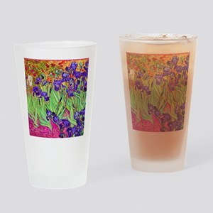 van gogh purple iris Drinking Glass