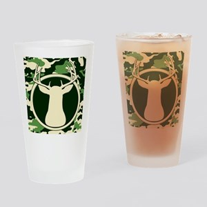 camo buck calendar Drinking Glass