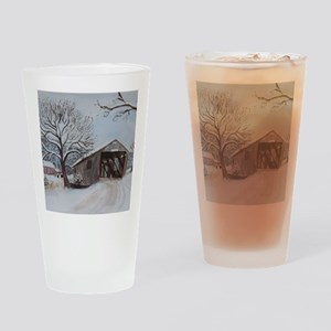 Covered Bridge Drinking Glass