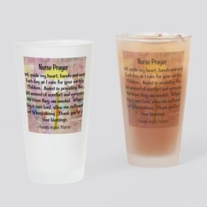 Nurse prayer blanket PINK Drinking Glass
