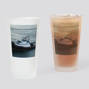 Tugboat Drinking Glass