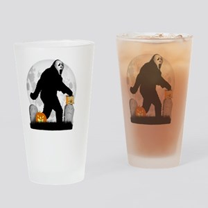 Gone Halloween Squatchin' Drinking Glass