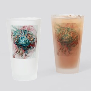 Brain, abstract image Drinking Glass