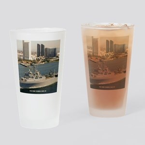 uss fort fisher framed panel print Drinking Glass