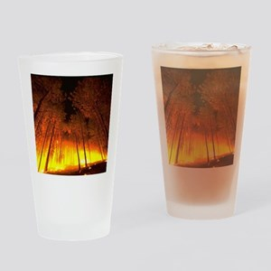 Forest Fire Drinking Glass