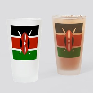 Kenyan Flag Drinking Glass