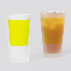 Simply Yellow Solid Color Drinking Glass