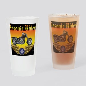 Masonic Riders license Drinking Glass