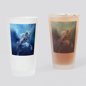 fairy and flying tiger Drinking Glass
