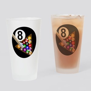 8ball_large Drinking Glass