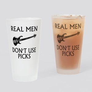 REAL MEN DONT USE PICKS 1 Drinking Glass