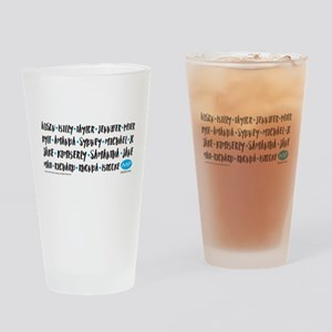Melrose Place Names Drinking Glass