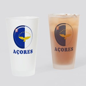 Azores islands flag Drinking Glass
