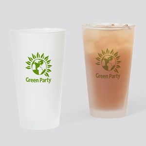 The Green Party Drinking Glass