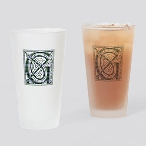 Monogram -Gunn Drinking Glass