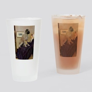 Mom's Bull Mastiff Drinking Glass