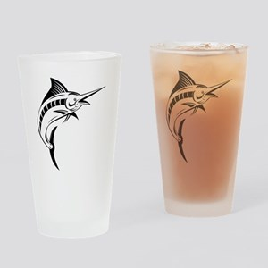 blue marlin jumping Drinking Glass