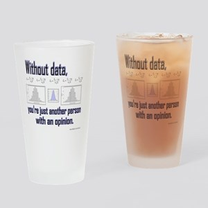 withoutdata_shirt Drinking Glass