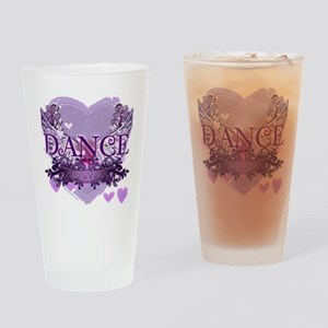 dance forever purple heart copy Drinking Glass