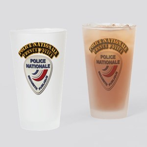 Police Nationale France Police with Drinking Glass
