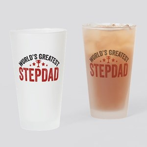 World's Greatest Stepdad Drinking Glass