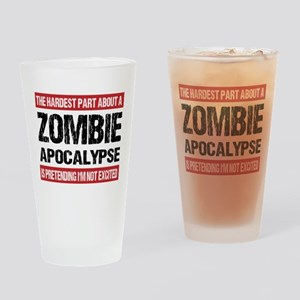 ZOMBIE APOCALYPSE - The hardest part Drinking Glas