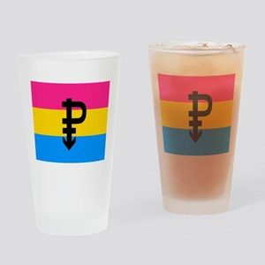 PANSEXUAL Drinking Glass