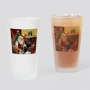 Santa's Bull Mastiff #4 Drinking Glass