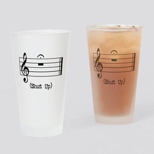 256d4aaf80c Shut Up (in musical notation) Drinking Glass