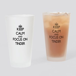 Keep Calm by focusing on Tinder Drinking Glass