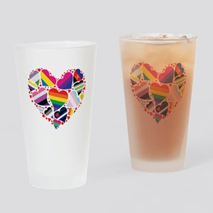 All Pride Heart Drinking Glass