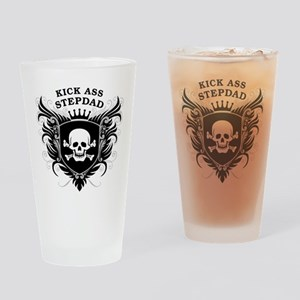 Kick Ass Stepdad Drinking Glass