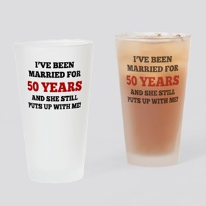 Ive Been Married For 50 Years Drinking Glass
