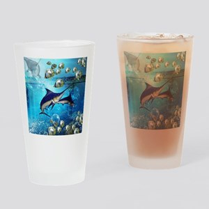Awesome underwater world Drinking Glass