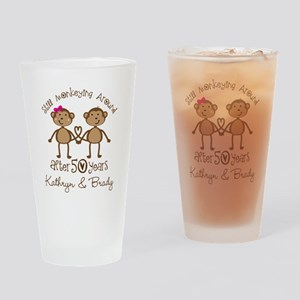 50th Wedding Anniversary Personalized Drinking Gla