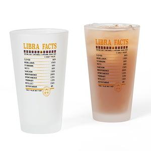Libra Facts Zodiac Drinking Glass