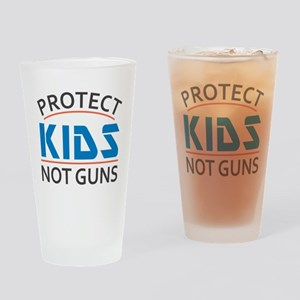 Protect Kids Not Guns Gun Control Drinking Glass