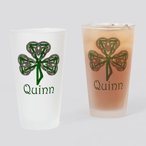 Quinn Shamrock Pint Glass