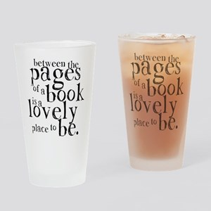 Between the Pages Drinking Glass