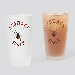 Redback Fever (Chiller red on black Drinking Glass
