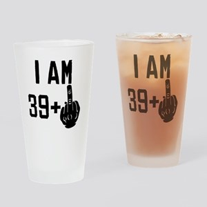 ebf7e0b4 Middle Finger 40th Birthday Drinking Glass