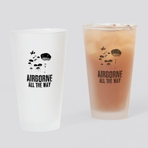 Parachuting Drinking Glass