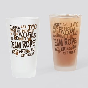 team_roper_brown Drinking Glass