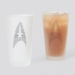 Star Trek Quotes (Insignia) Drinking Glass