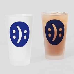 Bipolar face Drinking Glass