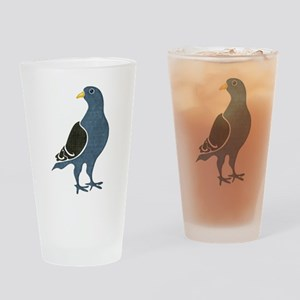 Fashionista Pigeon copy Drinking Glass