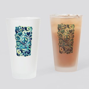 Colorful Hippie Art Drinking Glass