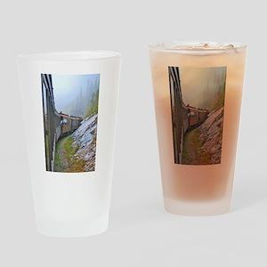 Winter Train Drinking Glass