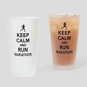 Keep calm and run Marathon Drinking Glass