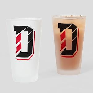 Davidson Wildcats Pawprint Logo White Drinking Gla
